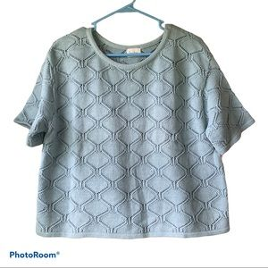 Vintage Neiman Marcus Cropped Mint Knitted Top